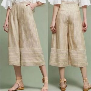 Anthropologie Elevenses wide leg pants size 10